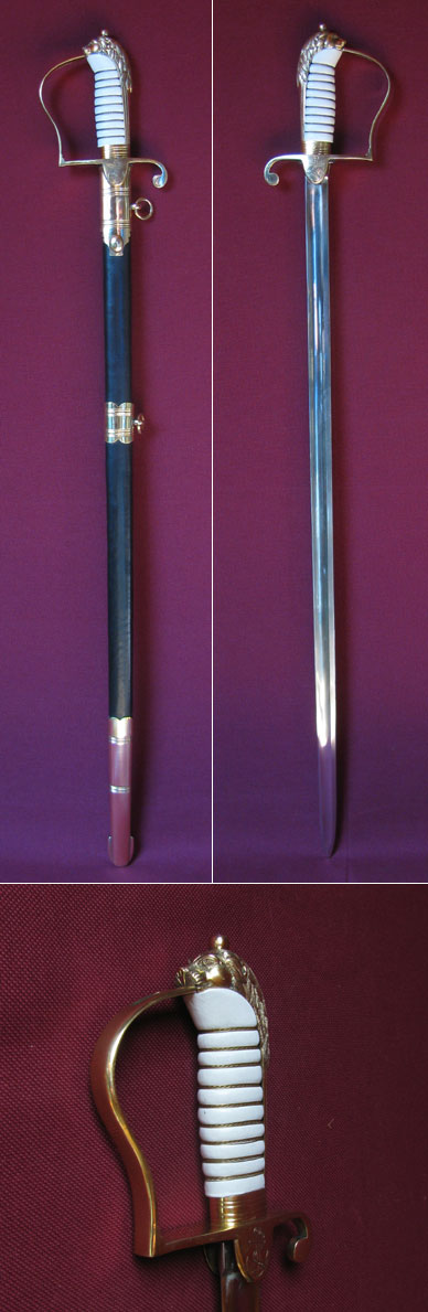 British naval officer's sword, 1805 pattern