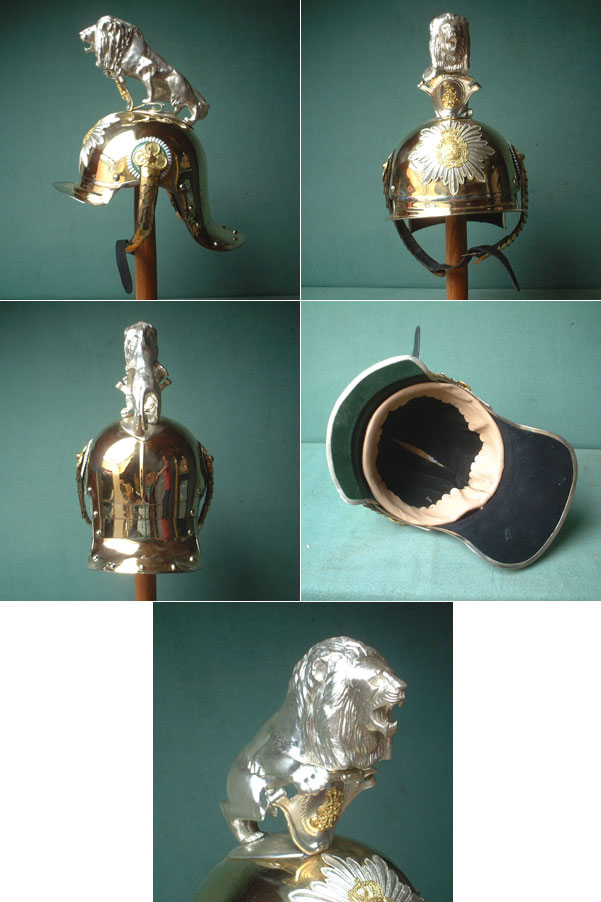Kingdom of Saxony royal Cavalry Guards Helmet w. lion