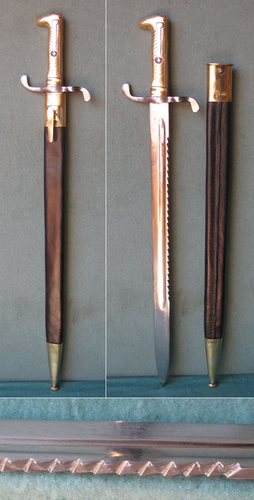 Bayonet reproduction M1871 with saw back