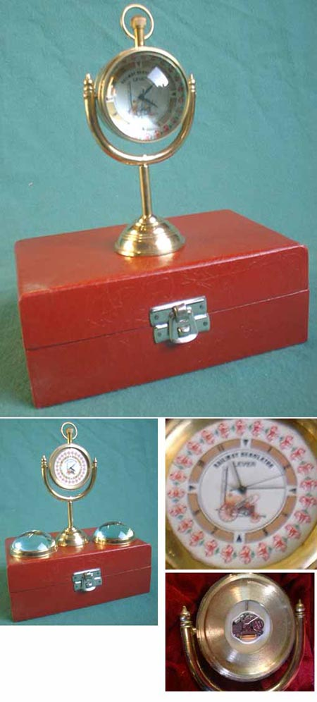 Ball clock (old railwaymen - steam engine)