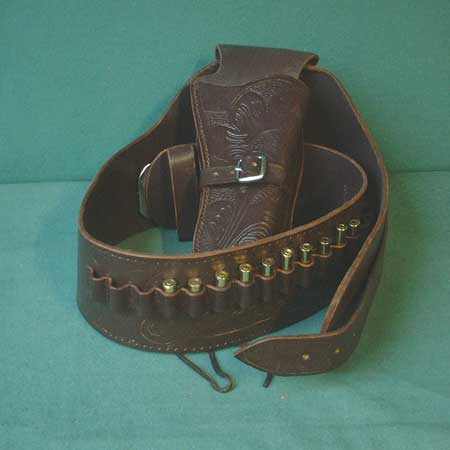 Western Colt Buscadero Holster and belt (brown) - size XL