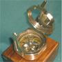 Brunton Compass w. Hardwood Box, Replica